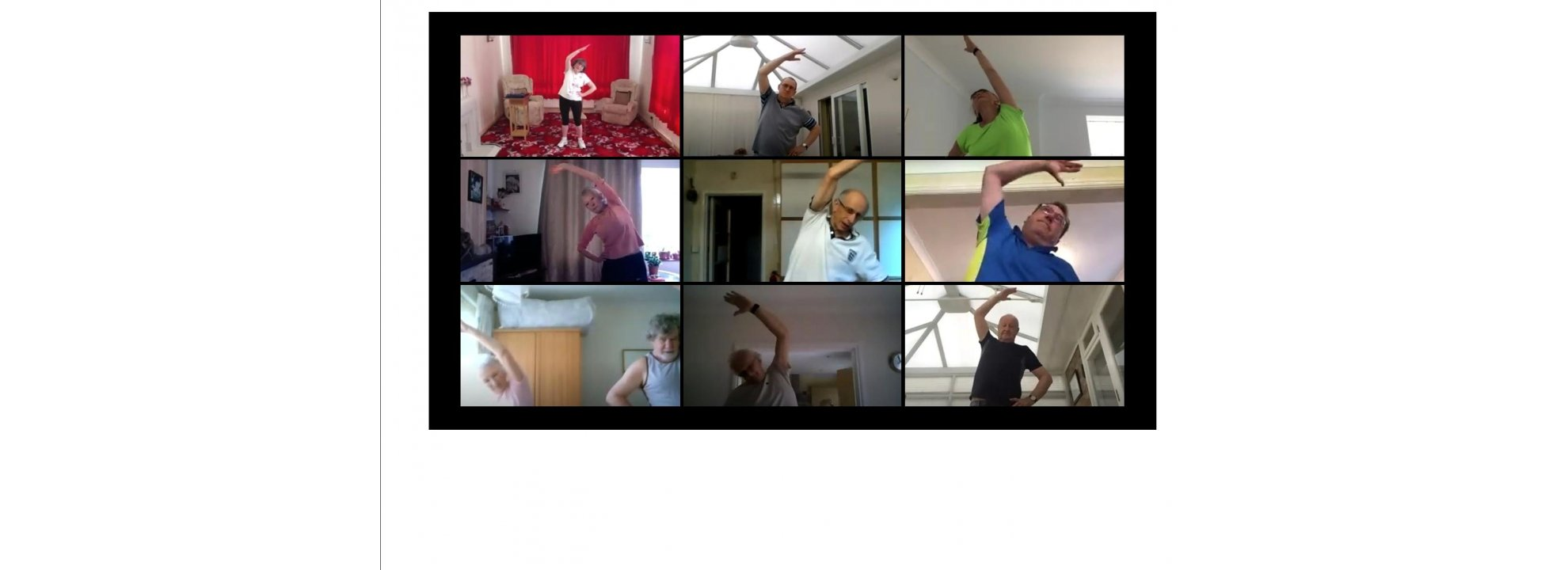 Exercise to Music for beginners to exercise and people over 65 Banner